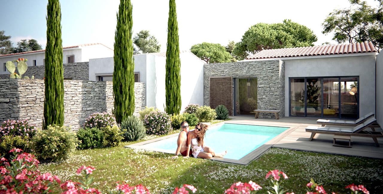 Villa corse avec piscine privée, chauffée